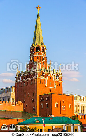 Trinity Tower of Moscow Kremlin - Russia - csp23105260