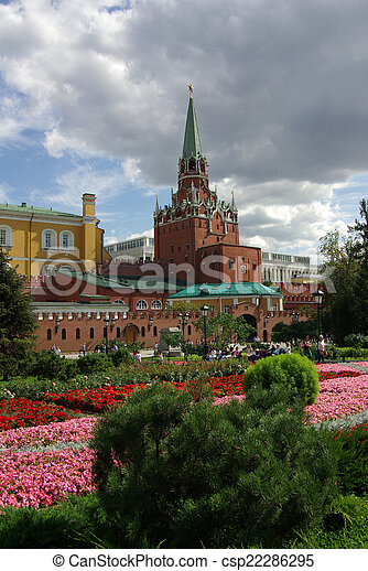Trinity Tower of Moscow Kremlin - csp22286295