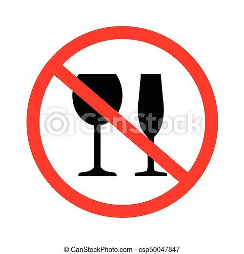 Trinken Nein Alkohol Zeichen Alkohol Nein Sign Abbildung
