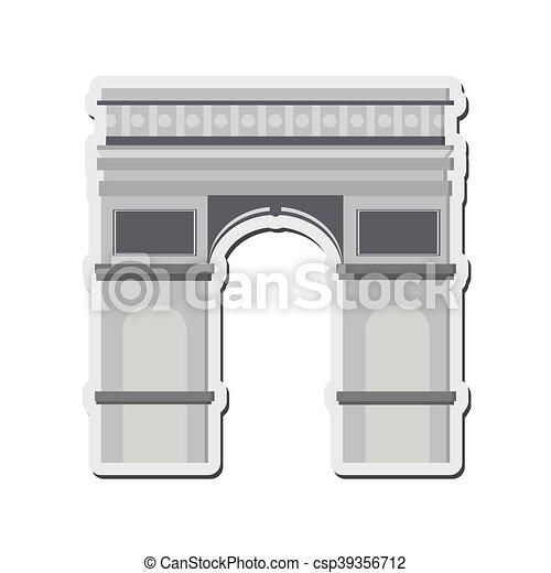 Arco del icono del Triunfo - csp39356712