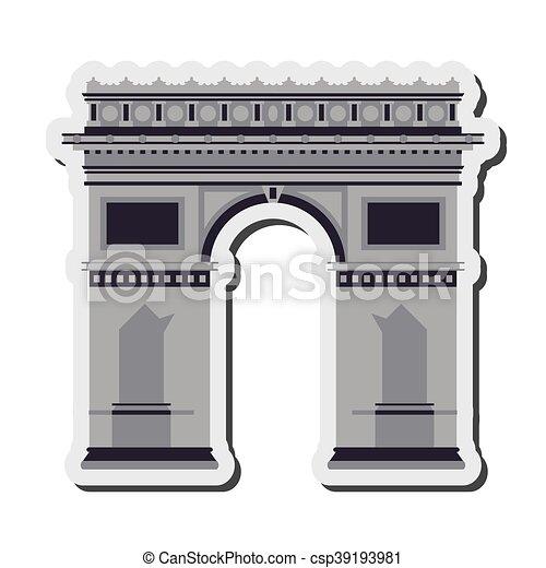 Arco del icono del Triunfo - csp39193981