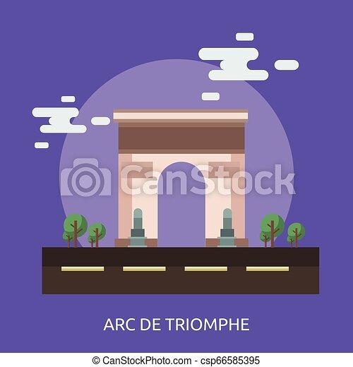 Arco de triomphe diseño conceptual de ilustración - csp66585395