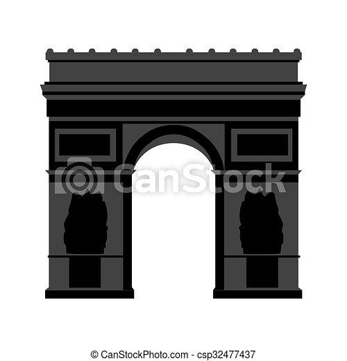Arco de triomphe paris - csp32477437