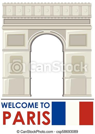 Arco de triomphe paris france referencia - csp58693089