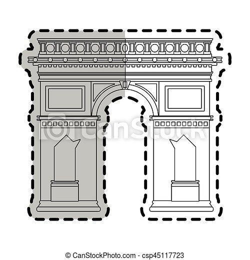 Arco de triomphe paris imagen icono - csp45117723