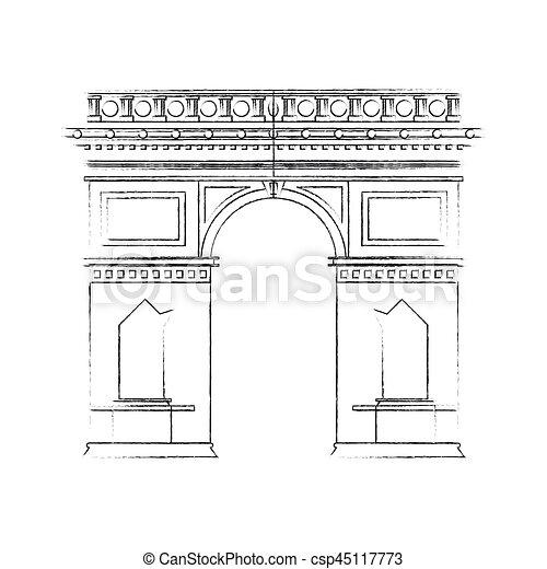 Arco de triomphe paris imagen icono - csp45117773