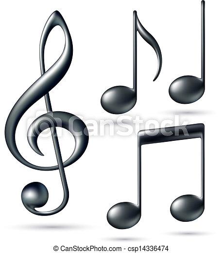 triplo, notas, clef - csp14336474
