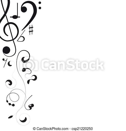 triplo, notas, desenho, music., clef, seu - csp21220250
