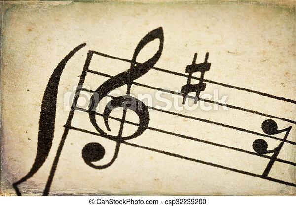 triplo, vindima, clef, música folha - csp32239200