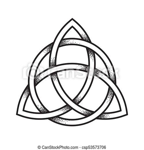 Triquetra Ancient Pagan Symbol Triquetra Or Trinity Knot Hand