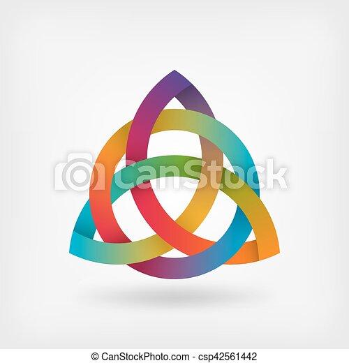 triquetra symbol in rainbow colors - csp42561442