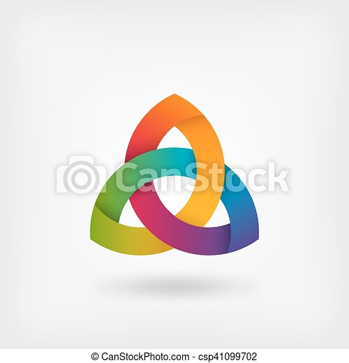 triquetra symbol in rainbow colors - csp41099702