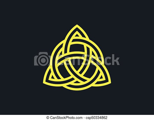 Triquetra Trinity Knot Celtic Symbol Of Eternity Vector Illustration
