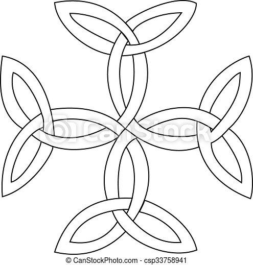 Triquetras cross symbol - csp33758941