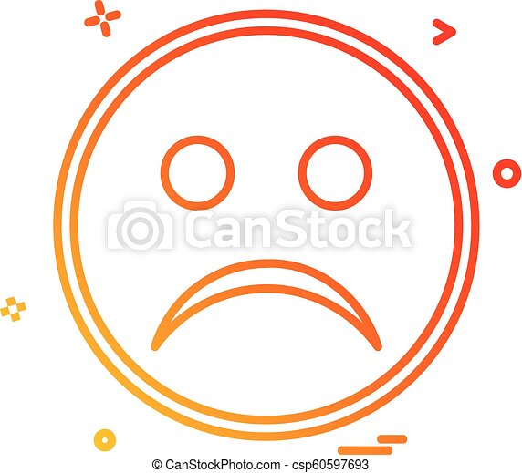 Triste Vetorial Desenho ícone Emoji