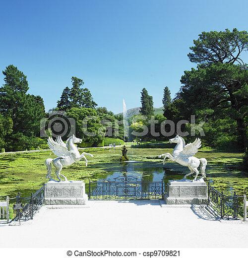 Triton\'s lake, powerscourt gardens, county wicklow, ireland stock ...