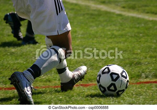 Fußball-Kick - csp0006888