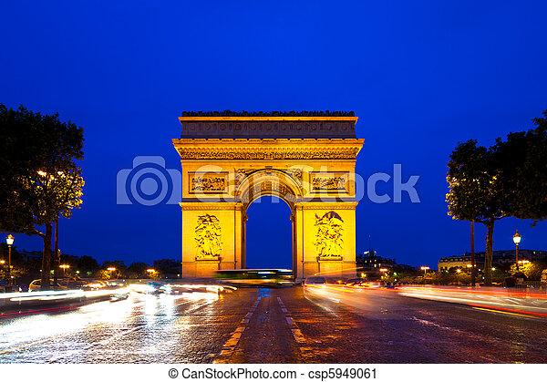 triumfalny obłąk, paryż, francja - csp5949061