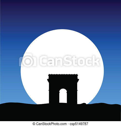 triumphal arch on the moon - csp5149787