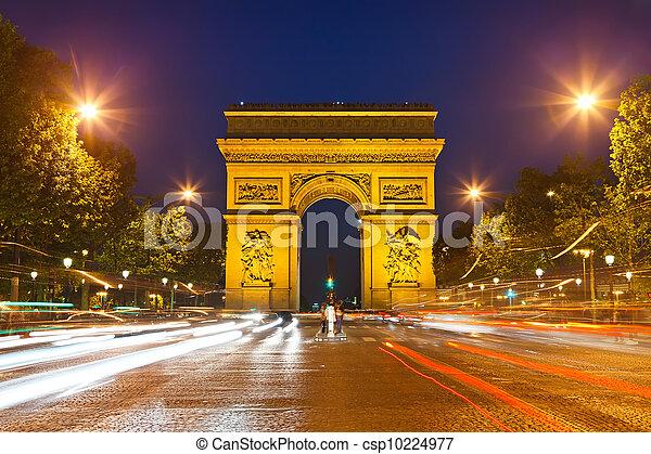 Arco de triunfo, París, Francia - csp10224977