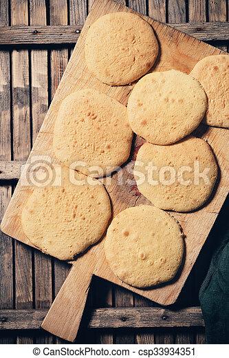 Trocken Keks Kuchen Trocken Kuchen Holzern Keks Brett Klein