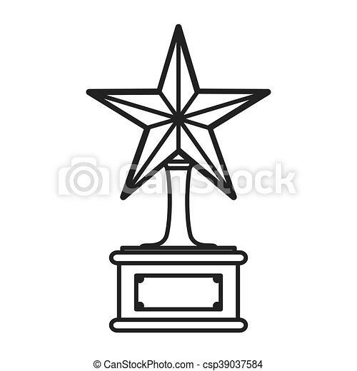troféu, estrela, ícone - csp39037584