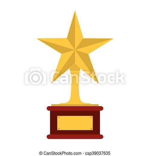 troféu, estrela, ícone - csp39037635