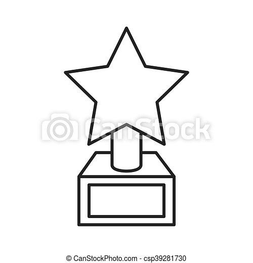 troféu, estrela, ícone - csp39281730