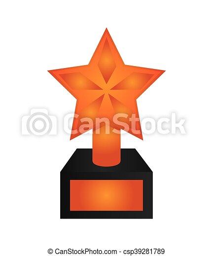 troféu, estrela, ícone - csp39281789