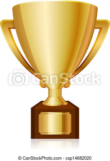 Un trofeo brillante de oro - csp14682020