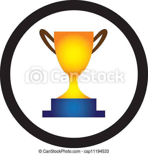 trofeo, dorato, concetto, vittoria, success., rappresentare, questo, immagine, tazza, talento, illustrazione, isolato, grafico, lattina, white., winner., presentato, realizzazione - csp11194533