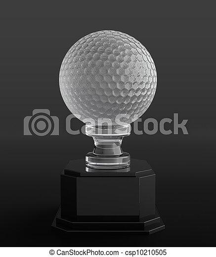 trofeo, palla, golf - csp10210505