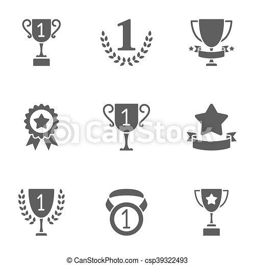 Trofeo y premios iconos - csp39322493