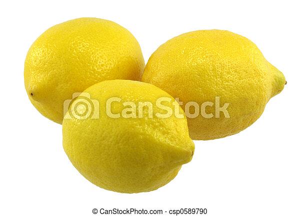 trois, citrons - csp0589790