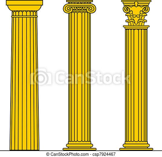 trois, colonnes - csp7924467