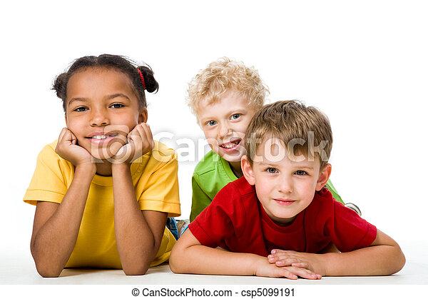 trois enfants - csp5099191