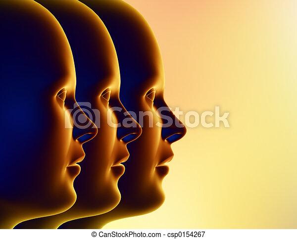 trois femmes - csp0154267