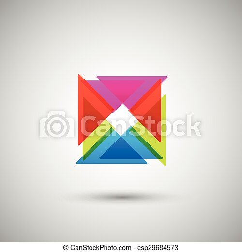 trojúhelník, abstraktní, neposkvrněný, barva grafické pozadí - csp29684573