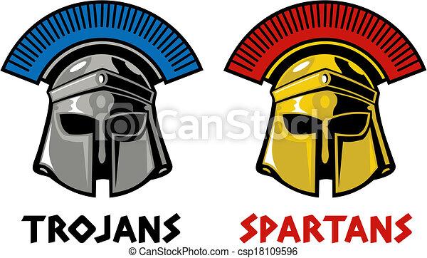 trojan and spartan helmet trojan and spartan helmet