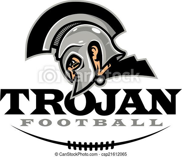 trojan football design with helmet and half football clip art vector rh canstockphoto com trojan clipart free clipart trojan horse