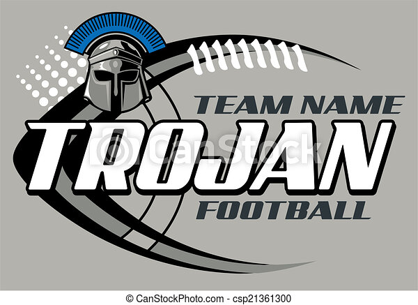 trojan, football, disegno - csp21361300