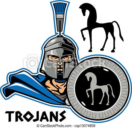 trojan with shield closeup trojan holding a shield rh canstockphoto com trojan mascot clipart trojan clip art mascots