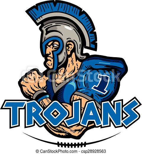 trojans football design with muscular mascot clip art vector rh canstockphoto com trojan clip art free clipart trojan head