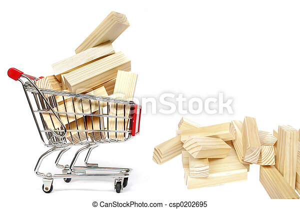 Trolley and Blocks - csp0202695