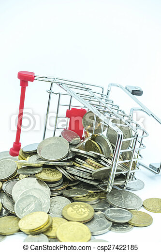 Trolley and coins - csp27422185