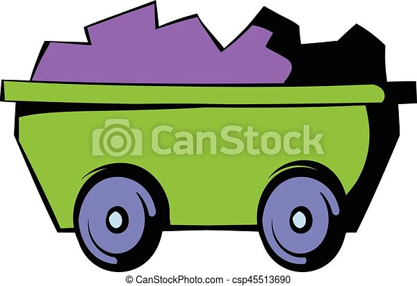 trolley icon icon cartoon trolley with ore icon in icon in eps rh canstockphoto ie trolley clipart png trolley clipart free