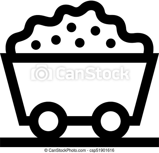 trolley with ore icon vector clip art search illustration rh canstockphoto com supermarket trolley clipart shopping trolley clipart free