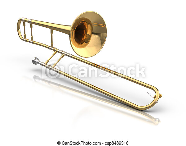 3d rendered trombone stock illustration search clip art drawings rh canstockphoto com trombone clipart free trombone clipart