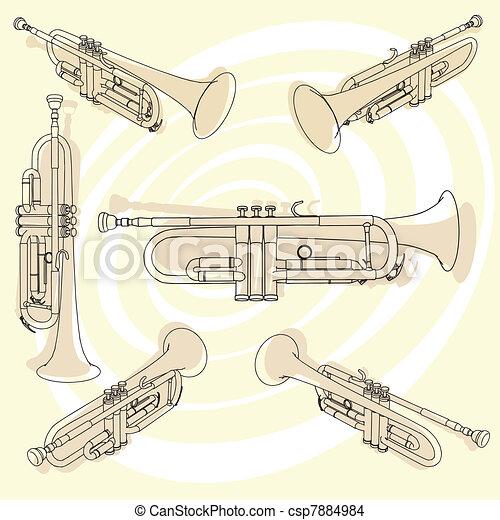 Or, trompette.