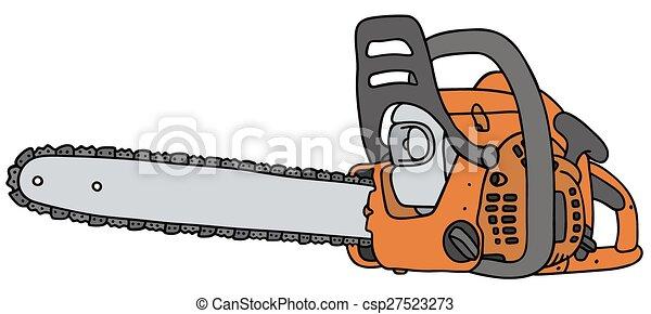 Orange tron onneuse dessin main - Coloriage tronconneuse ...